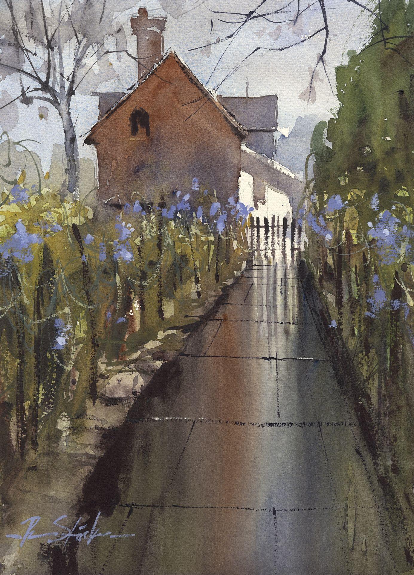 The English Garden Jpg Watercolor Images English Garden Design Street Scenes