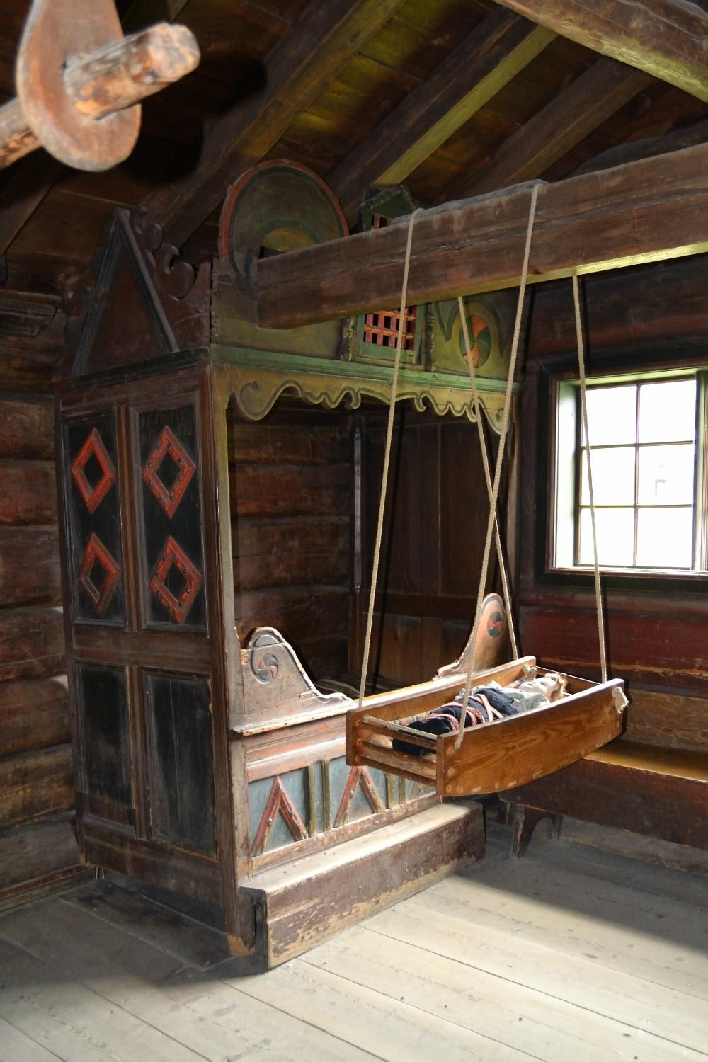 Norwegian Folk Museum Scandinavian Decor Box Bed