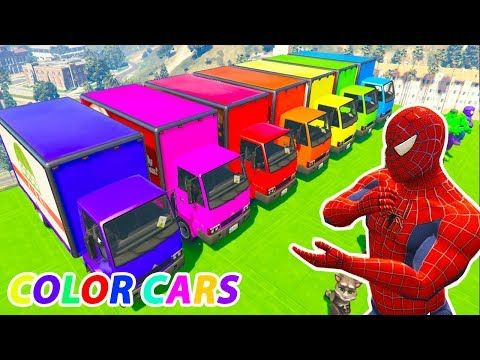 Learn Colors Videos For Kids Learning Colors With Cars Truck Spiderman C