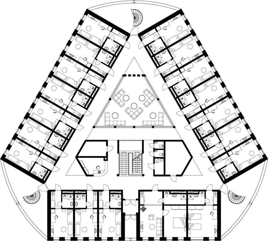 Dormitory Ground Floor Plan Copy Medium Hotel Floor Plan Architectural Floor Plans Hotel Design Architecture