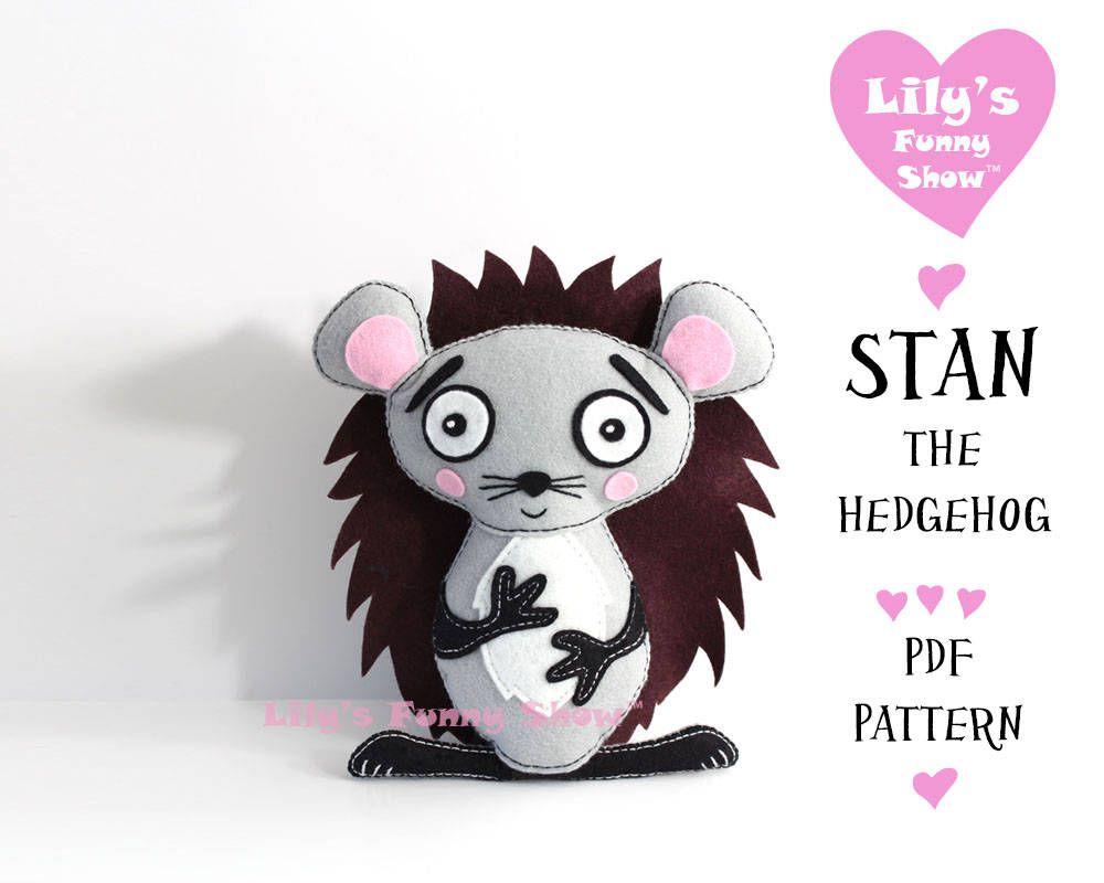 Hedgehog Sewing Pattern - Felt PDF pattern-Instant Download- Felt ...