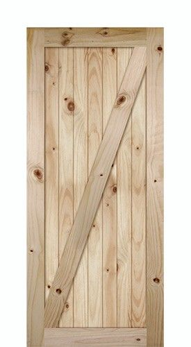 70 Tall ZBar VGrooved Knotty Pine Barn Door Slab Discount