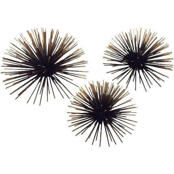 Gold Tipped Sea Urchin Wall Decor Set Of 3 79 Liked On