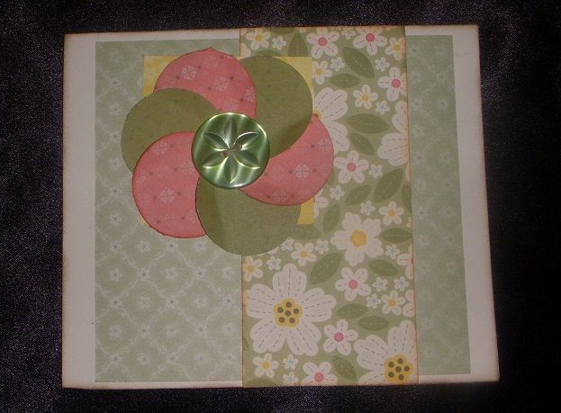 flower made with a circle punch. Made By Tabbi Fritz, CTMH consultant. www.adhesiveaddict.com