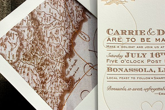 Vintage-Inspired Invitations for a Destination Wedding in Italy - best of invitation maker for wedding