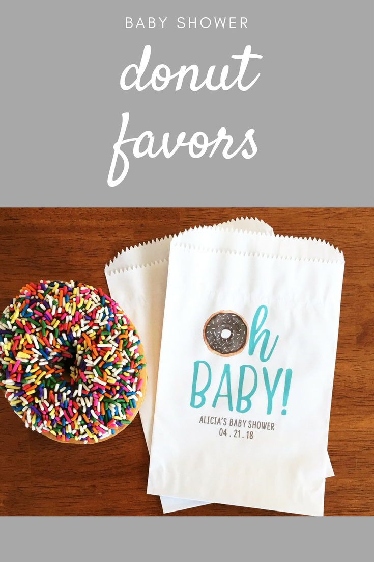 Donut Baby Shower Favor Bags Themed