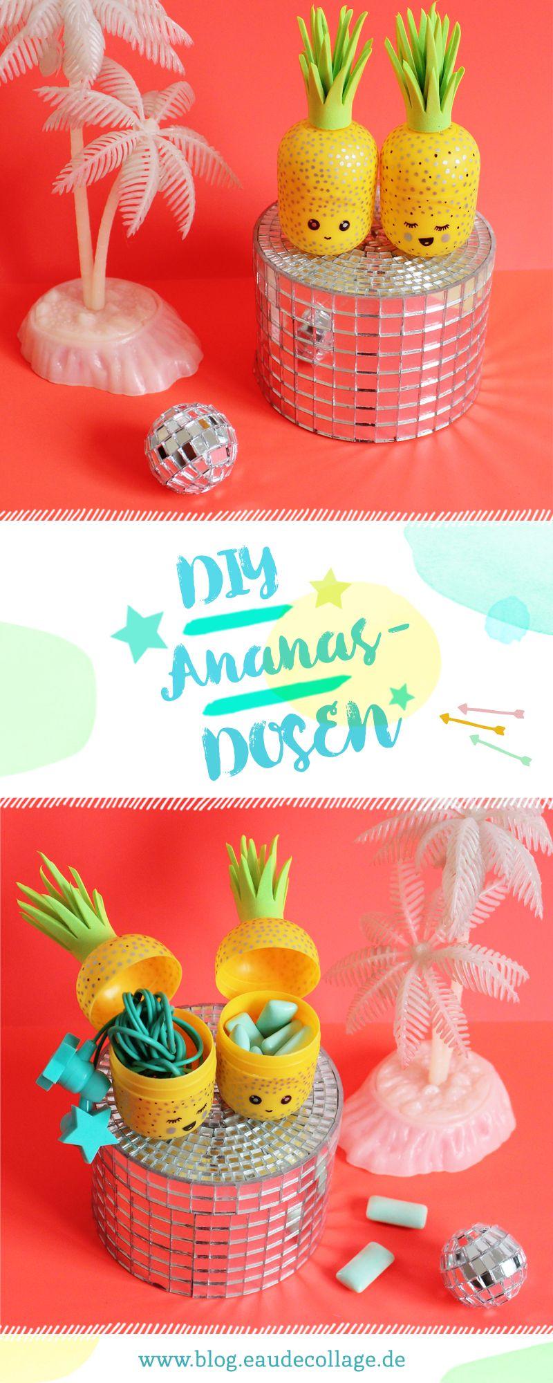 diy ananas kopfh rer aufbewahrung basteln diy und selber machen pinterest basteln diy. Black Bedroom Furniture Sets. Home Design Ideas