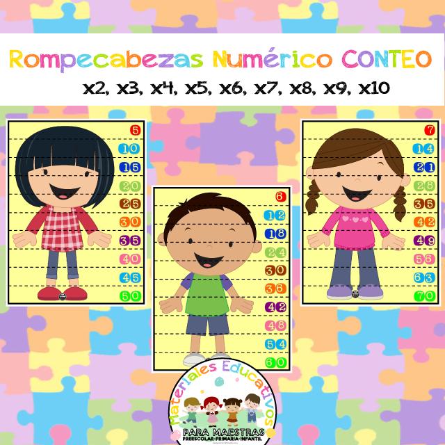 Rompecabezas De Números Para Conteo Puzzle De Tablas De Multiplicar Para Aprender Las Tab Rompecabezas De Números Matemáticas Para Niños Tablas De Multiplicar