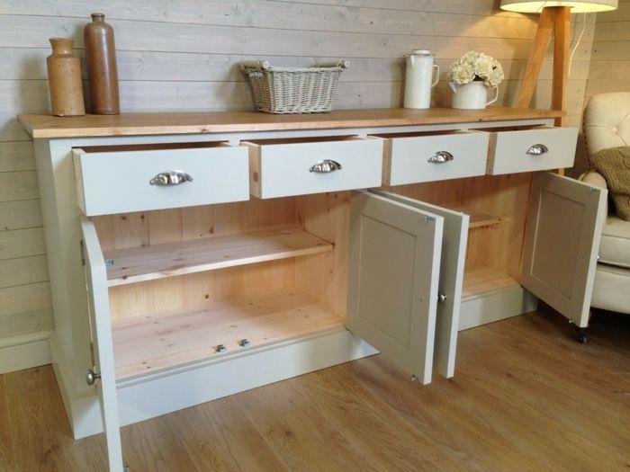anrichte küche anrichte weiß küchenschrank alt | küchenideen ... - Küche Schrank