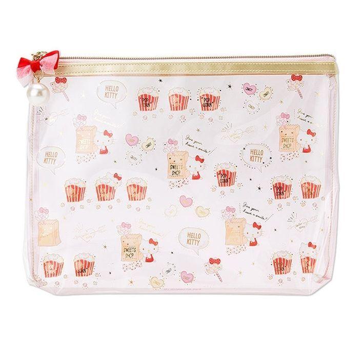 Sanrio Original Hello Kitty PVC Clear Pouch Bag A5 Size Multi Travel Pouch   SanrioJapan 811e1ab9798a4