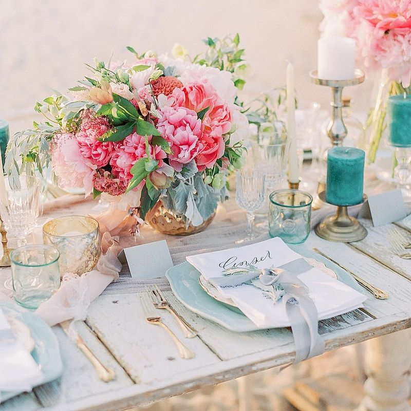 Bright Colored Wedding Centerpieces Add A Big Pop Of Color To Your