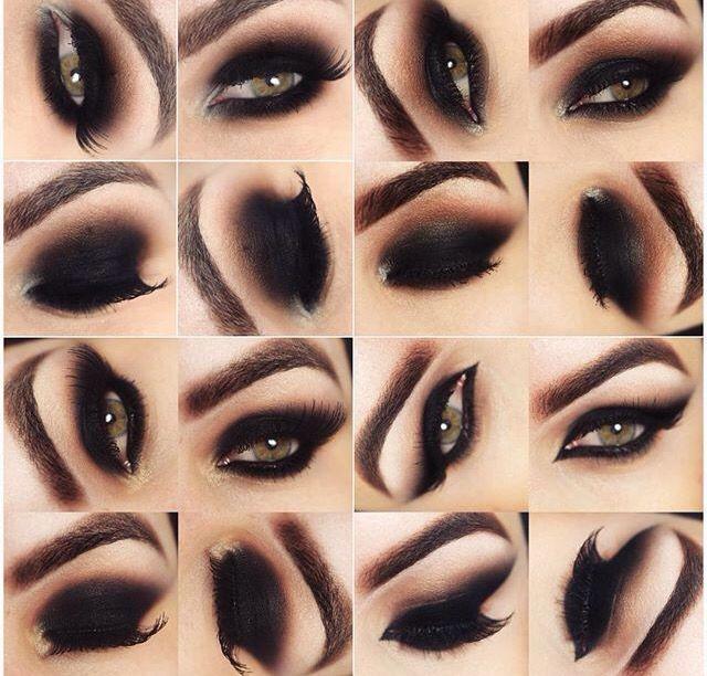 Formatos de olho preto diferentes para se inspirar. #BruTavares