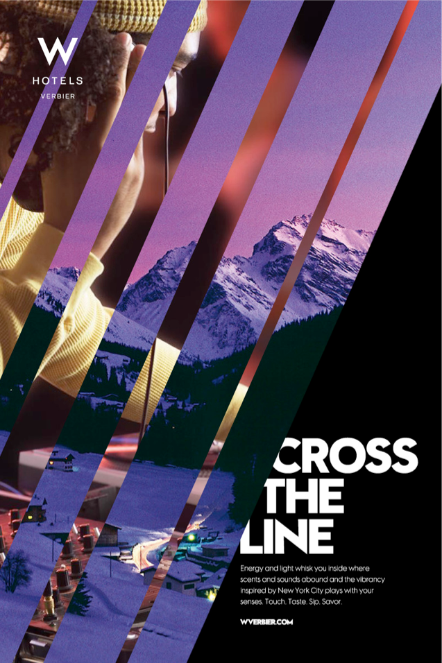 W Verbier Hotel Launch Posters Hotel Ads Event Poster Design