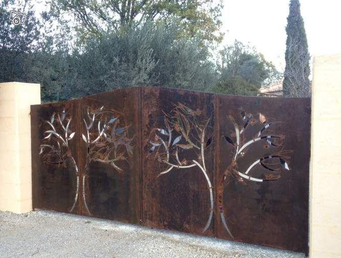 Cr ation et fabrication de portails en fer plein d coration var leboncoin f - Decoration pour portail fer ...