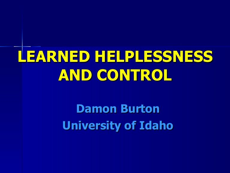 Learning Theories - Learned Helplessness