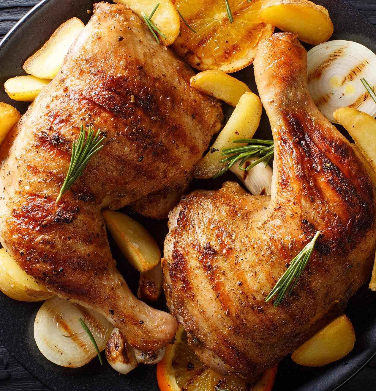 Sheet Pan Dinner With Chicken Thighs And Potatoes: Sheet Pan Chicken Thighs With Gold Potatoes, Asparagus