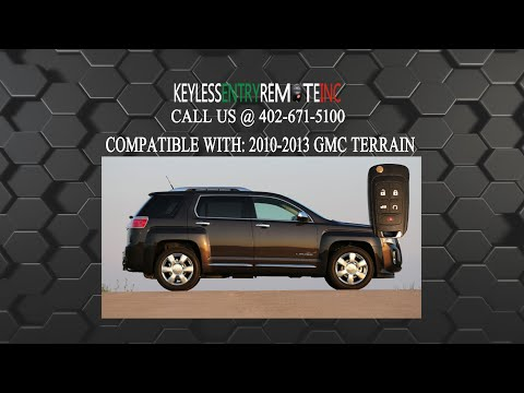 How To Change A 2010 2019 Gmc Terrain Key Fob Battery Fcc Id