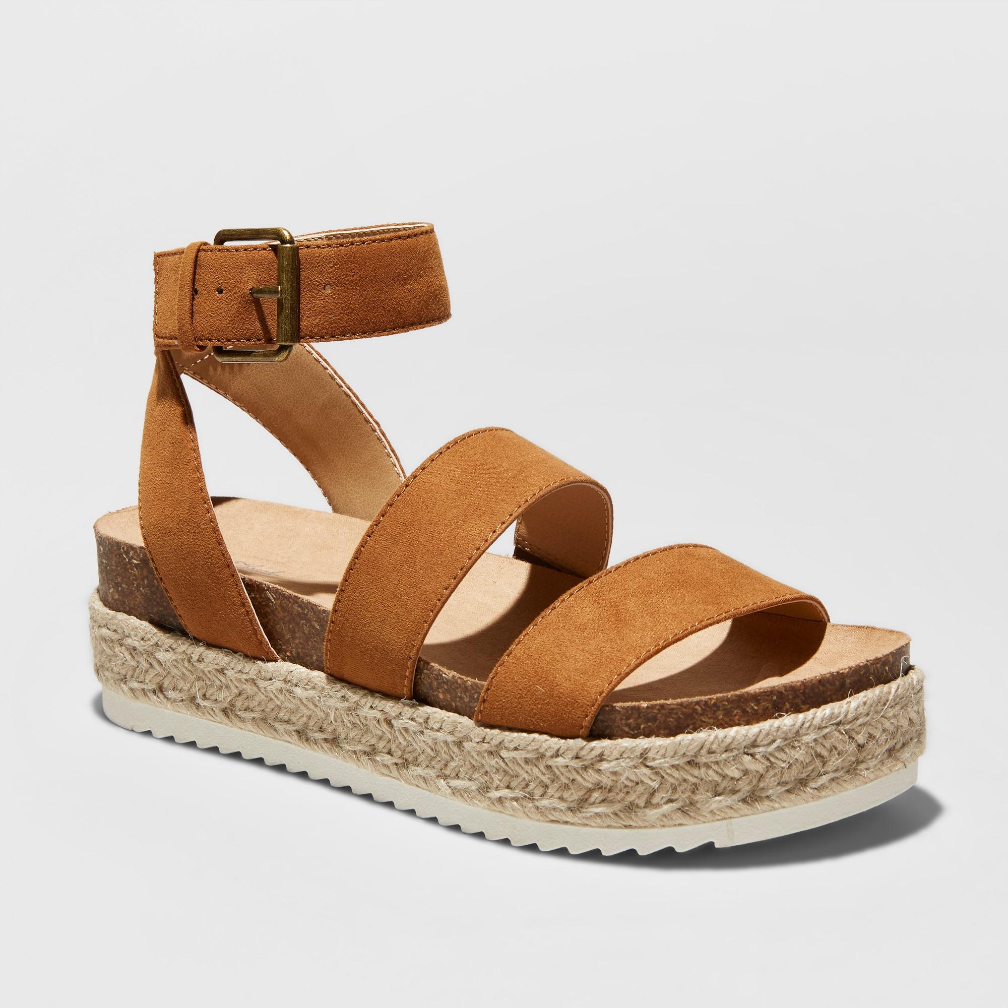 9d14a567988 Women s Agnes Quarter Strap Espadrille Flatform Sandals - Universal Thread  Cognac (Red) 11