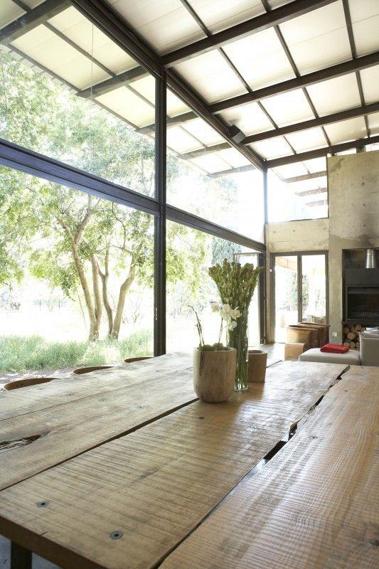 Glass house / nature in house / glass roof top / buite-huis / natuurhuis / betonhuis FOTO: Ryno