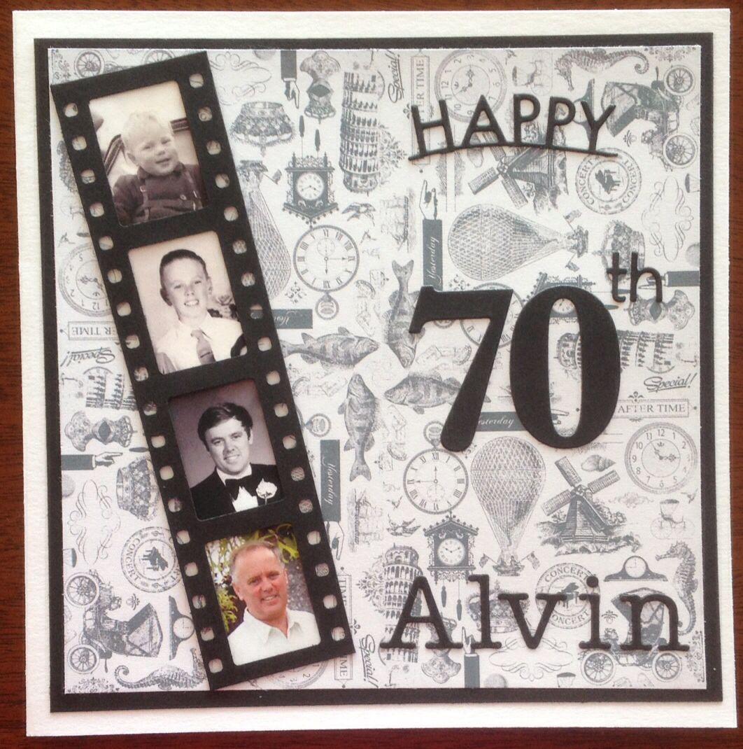 Masculine 70th birthday card 70th birthday card, Old