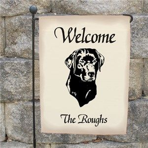 Awesome Personalized Dog Garden Flag | Welcome Dog Breed Yard Flag