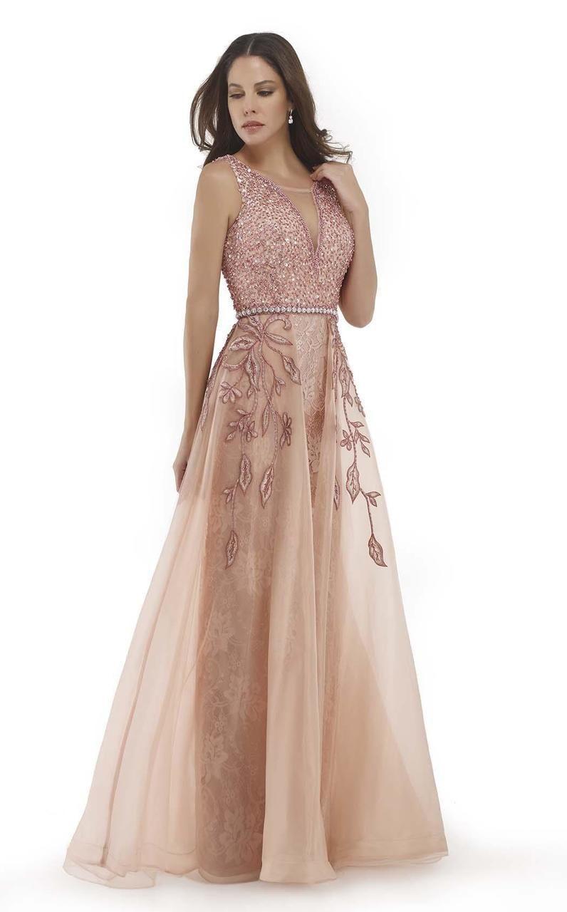 e2c33f06b2b Morrell Maxie - 15696 Shimmering Deep V-Neck Evening Gown