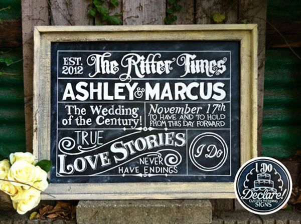 Wedding Ideas Top 15 Rustic Wedding Signs Wedding chalkboard