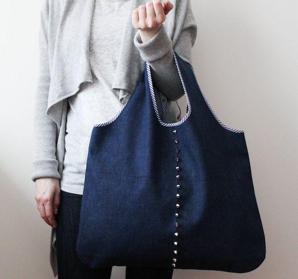Bien-aimée Comment fabriquer sac à main en tissu facile ? modèle à faire soi @JZ_18