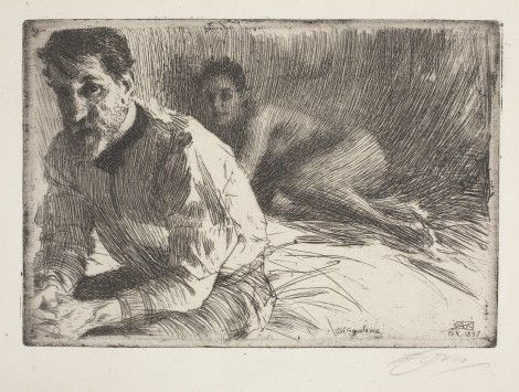 Anders Zorn - Augustus Saint Gaudens II - Isabella Stewart Gardner Museum, Boston, MA.