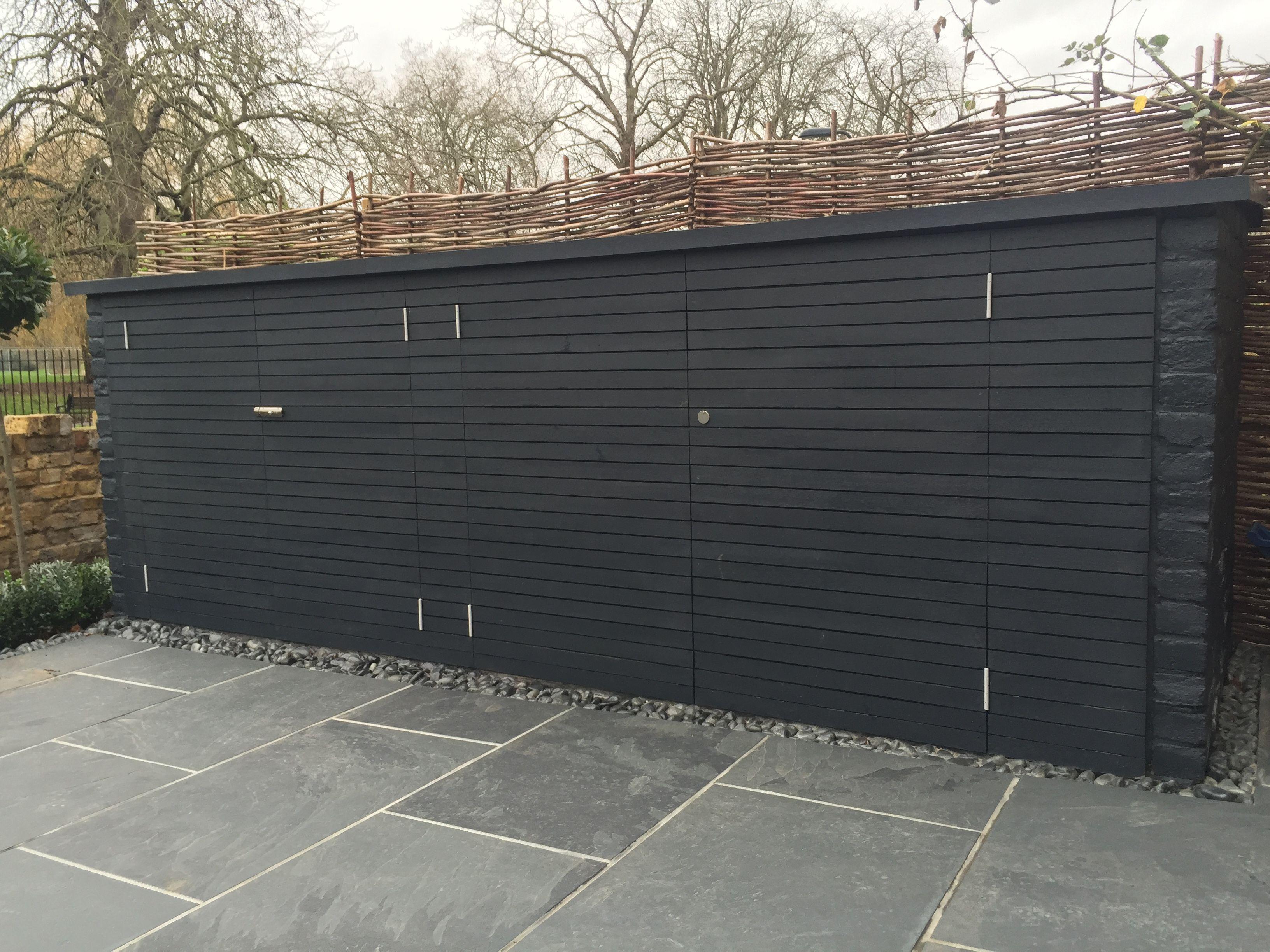 Bespoke garden storage bin bike store london shed for Bike garden storage solutions