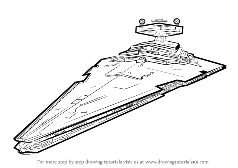 How To Draw Imperial Class Star Destroyer From Star Wars Drawingtutorials101 Com Star Wars Drawings Star Wars Tattoo Star Wars Art