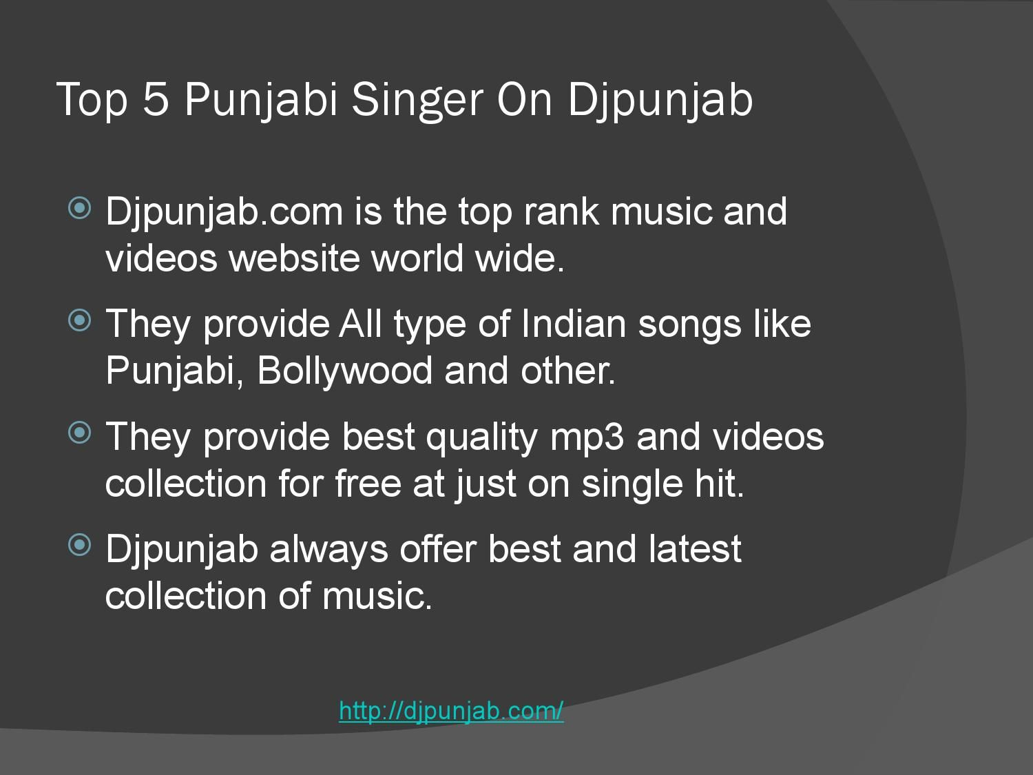 Top 5 punjabi singer on djpunjab Top Music Artists