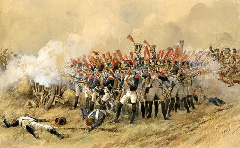 Waterloo_aquarelle | Guerres napoléoniennes, Bataille ...