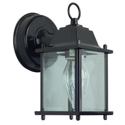 Sunset Lighting 1 Light Outdoor Wall Lantern Finish: Rubbed Bronze