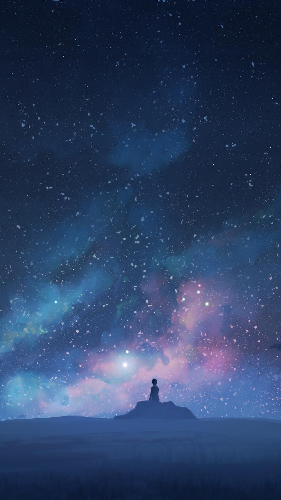 Starry night in 2020 Starry night wallpaper, Pretty