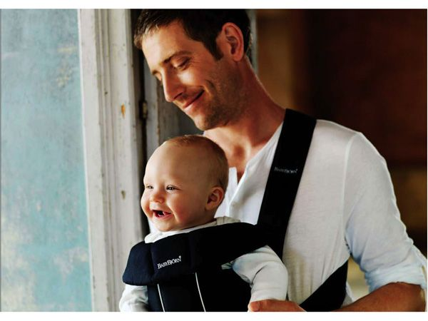 Image result for man with baby pouch