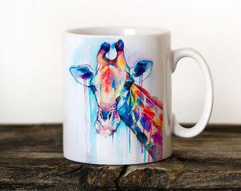 Mug Etsy Tea Cup Art Giraffe Mug Cup Art