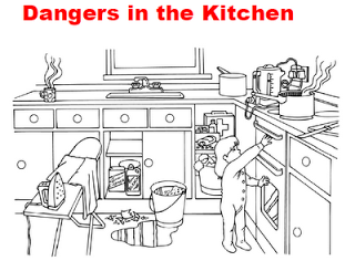 Safety in the home worksheets kitchen google search for Safety around the house