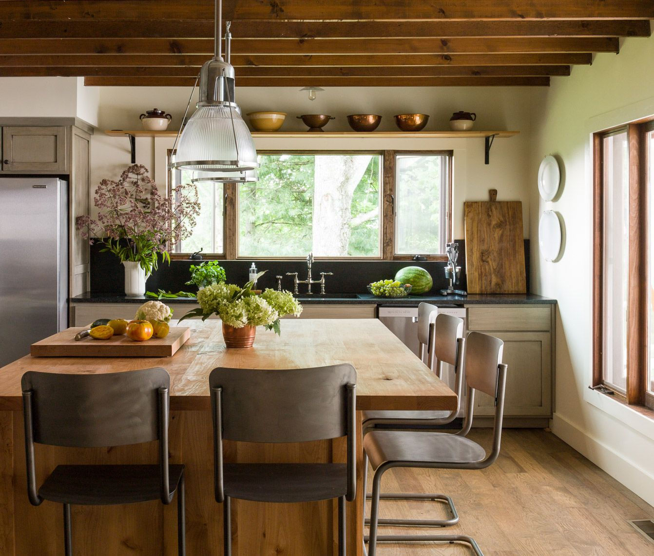 Living Room Island Cabinets: Mountain House Kitchen Before And After Via Lauren Liess