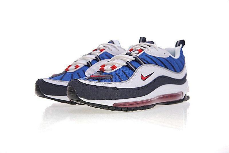 Nike Air Max OG 98 Gundam Running Shoes Royal Blue Comet Red