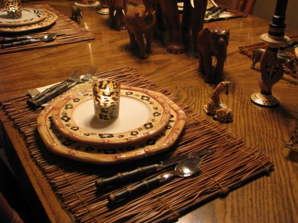 Safari Dining Room Decorations