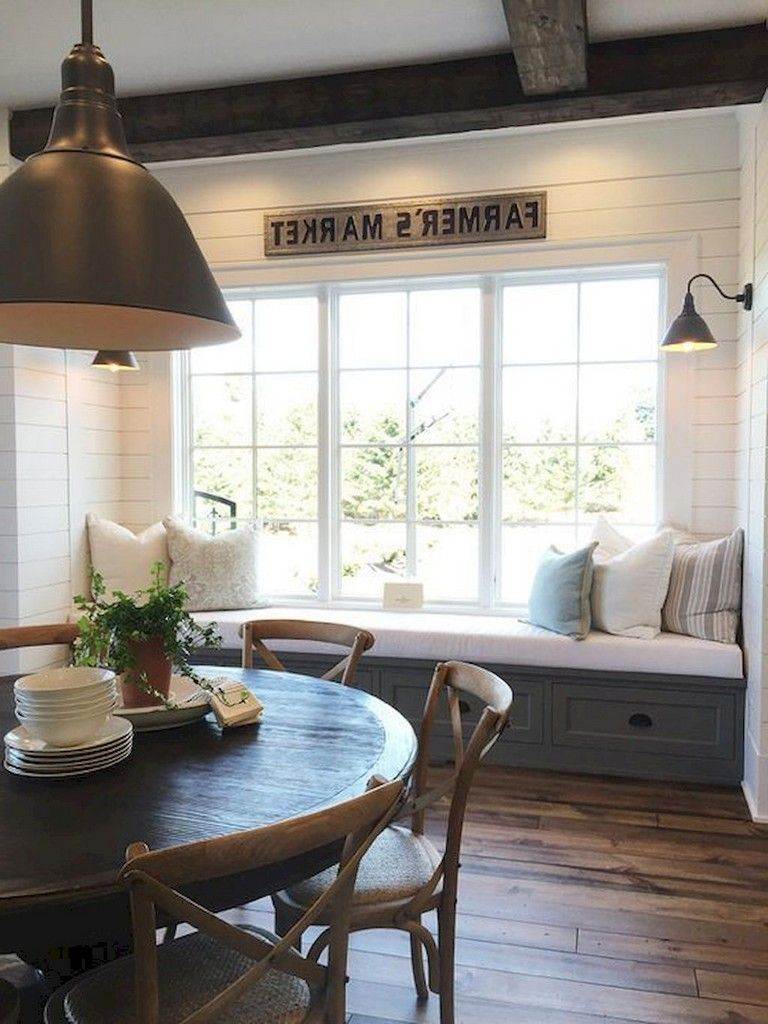 58 Amazing Farmhouse Style Dining Room Design Ideas Farmhouse
