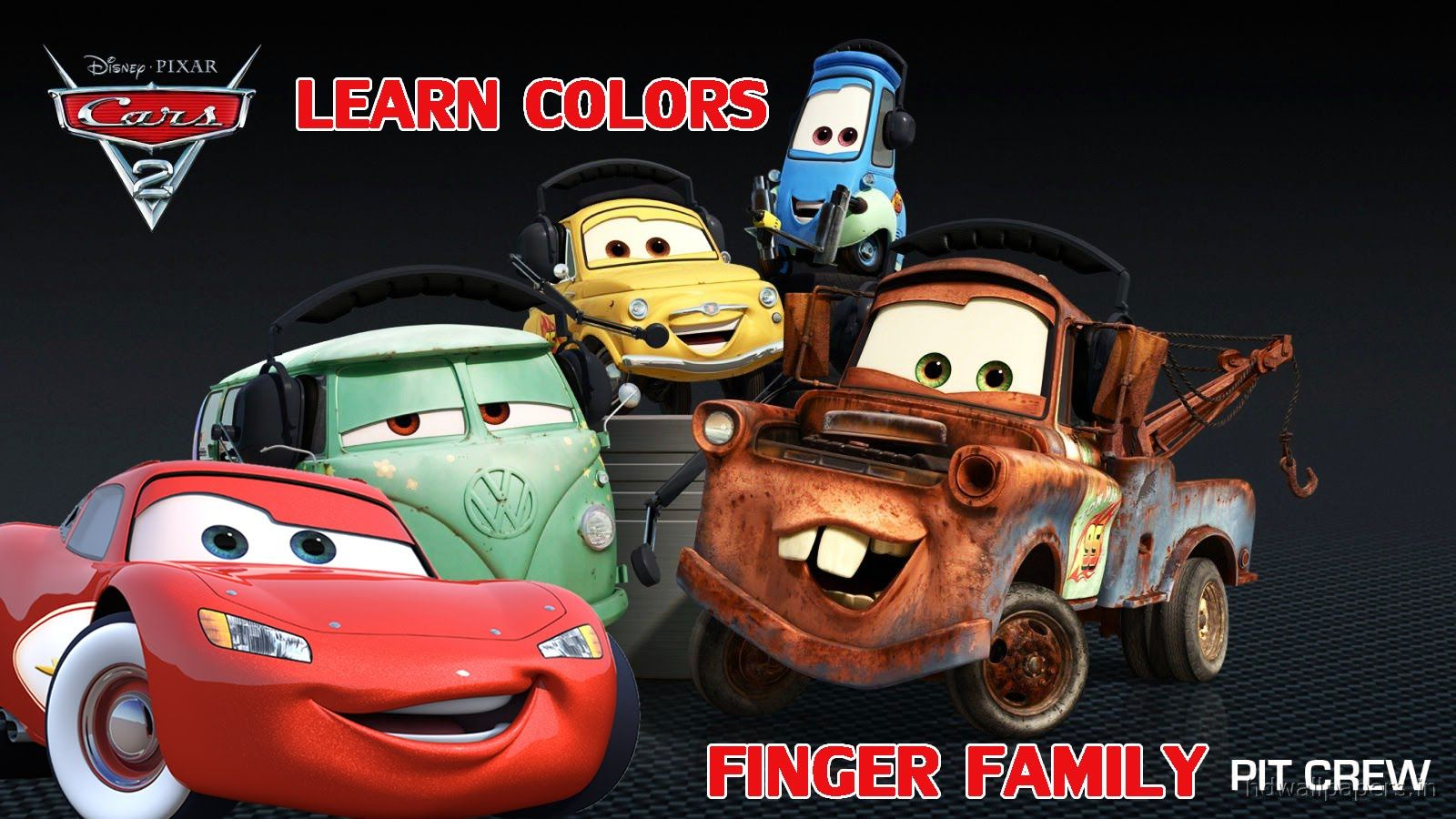 Learn Colors With Cartoon Cars Finger Family Nursery Rhymes Song