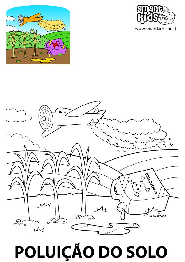 Colorir Desenho Poluicao Do Solo Poluicao Colorir Unicornio
