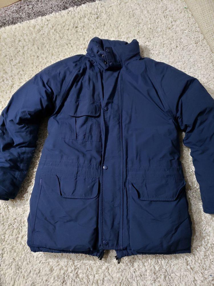 ac4b4502f64 Men Vntg Eddie Bauer Down Filled Puffer Coat Jacket Gore-tex S Ridge ...