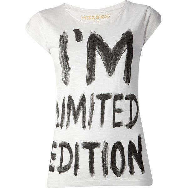HAPPINESS 'Limited Edition' t-shirt found on Polyvore