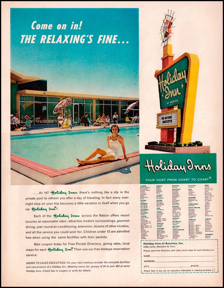 1960 Vintage Ad Holiday Inn Come On In The Relaxing S Fine