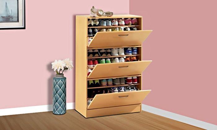 Three-Door Big Foot Shoe Cabinet   Description: Ideal for ...