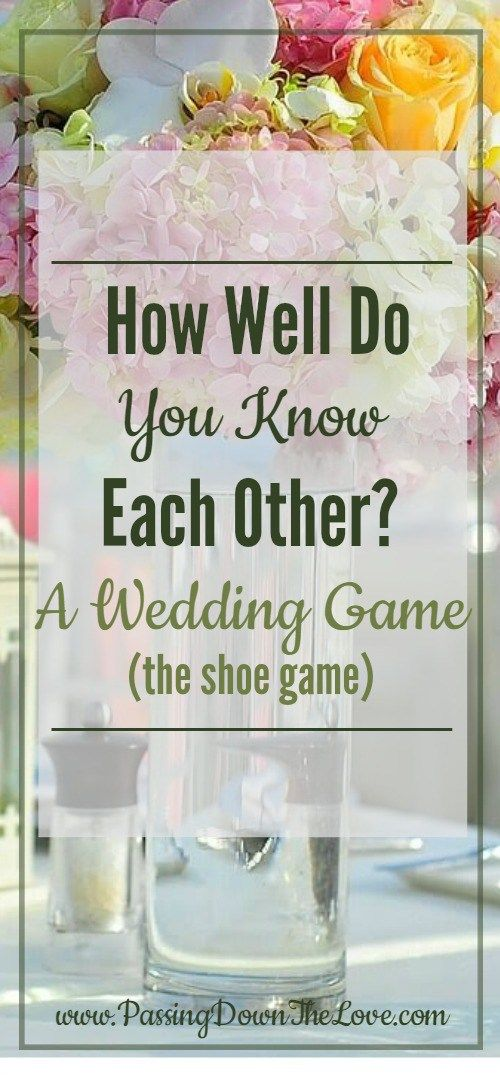 The Wedding Shoe Game -- How Well Do You Know Each Other ...