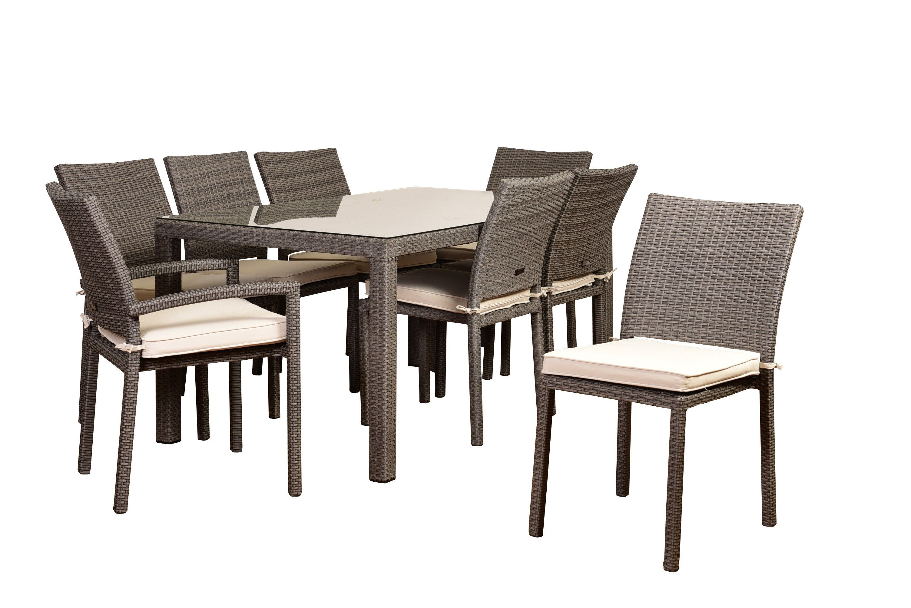 Atlantic Liberty 9 Piece Rectangular Patio Dining Set